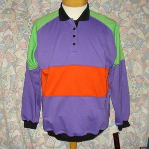 80's Retro Multi-color Sweatshirt Size M Unisex